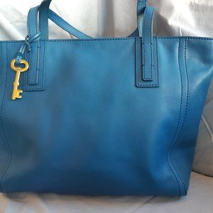 Fossil Blue Emma Shopper Tote